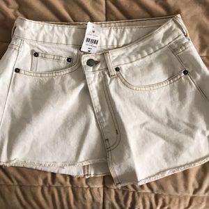 LF white denim skirt